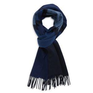 Nordstrom Cashmere Fringe Scarf blue